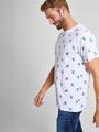 dedicated t-shirt met allover print wit