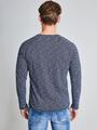 Garcia Shirt met Lange Mouwen PG910106 Blauw-Wit