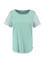 garcia t-shirt gestreept o00010 mintgroen