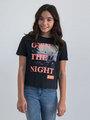 garcia t-shirt met opdruk m02402 zwart