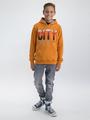 garcia hoodie met opdruk m03460 oranje