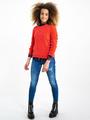garcia geruite blouse i92431 blauw-roze