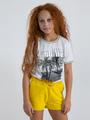 garcia t-shirt met opdruk o02406 wit