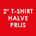 2e sale dames T-shirt halve prijs