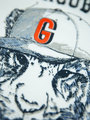garcia long sleeve met opdruk h95601 wit-blauw