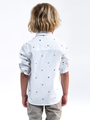garcia overhemd met allover print k95431 wit