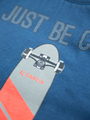 garcia t-shirt met opdruk n05402 blauw