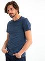 garcia gestreept t-shirt gs910700-292 blauw