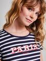 Tripper T-shirt Korte Mouw Basic TR900210 Blauw-Wit