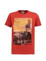 garcia t-shirt met opdruk n03602 rood