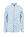 garcia overhemd met allover print g93431 blauw
