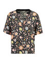 garcia top met allover print i90035 zwart
