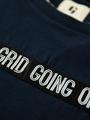 garcia t-shirt met tekst o03402 blauw