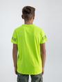 garcia t-shirt met tekst o03402 geel