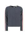 garcia gestreepte blouse i92434 wit-blauw