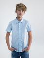 garcia overhemd met korte mouwen o03430 blauw