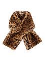 garcia fake fur panterprint sjaal i90131 bruin