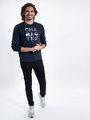 garcia sweater met opdruk l91065 blauw