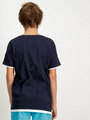 Garcia T-Shirt Met Buidelzak D93605 Blauw