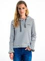 garcia gestreepte hoodie i90062 groen-wit