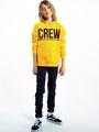garcia hoodie met tekst i93460 geel