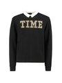 garcia sweater met tekst g92463 zwart