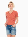 garcia t-shirt met allover print oranje q00006