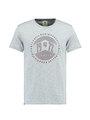 garcia t-shirt met opdruk e91005 lichtblauw