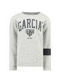 garcia sweater met logo g93460 grijs