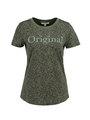 garcia t-shirt met allover print pg900910 groen