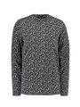 garcia long sleeve met allover print i90010 grijs
