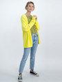 garcia blouse met bloemendessin m00035 geel