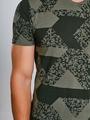 chief t-shirt met allover print pc910704 groen