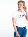 garcia t-shirt met tekst i90002 wit