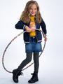 garcia gestreepte legging i94523 blauw