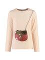 garcia t-shirt met lange mouwen k94400 roze