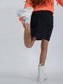 garcia rok met allover print m02523 zwart