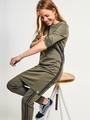 garcia jurk met glitterstreep h92684 groen