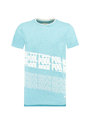 Garcia T-Shirt Met Tekstprint D93603 Felblauw