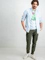 Garcia T-shirt korte mouwen D91207 lichtblauw