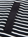 garcia gestreepte jurk g92481 zwart