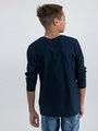 garcia long sleeve met opdruk m03400 blauw