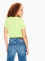garcia t-shirt met tekstprint geel q02400