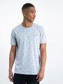 garcia t-shirt met allover print l91006 grijs