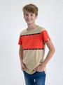 garcia t-shirt n03606 beige-rood