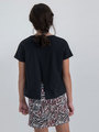 garcia t-shirt met opdruk n02602 zwart