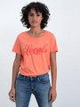 garcia t-shirt met tekstprint n00212 koraalroze