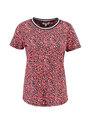 garcia t-shirt met allover print pg900502 rood