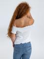 garcia off shoulder top o02407 wit