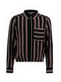 garcia blouse met strepen m02432 zwart